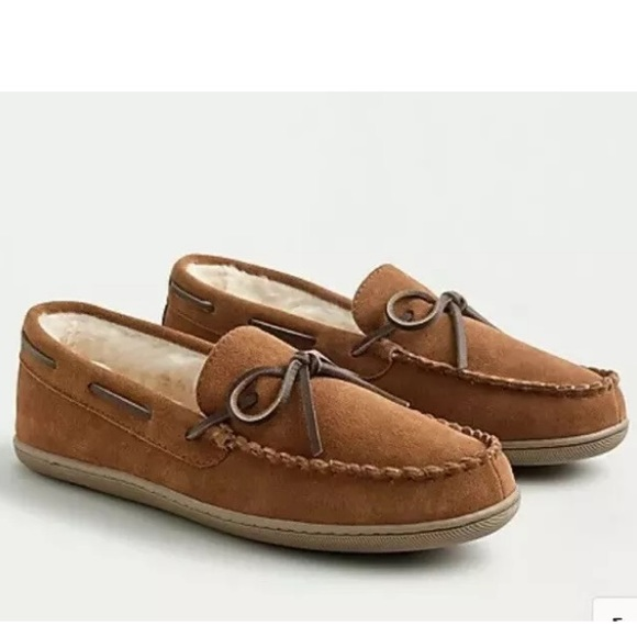 J. Crew Other - J Crew Men Classic Faux-Shearling Moccasin Size 11